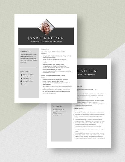 Business Development Administrator Resume Download