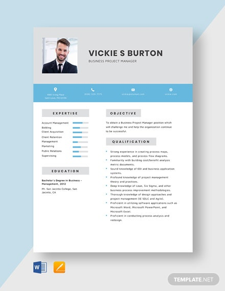Business Project Manager Resume Template