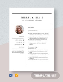 Carrier Account Manager Resume Template
