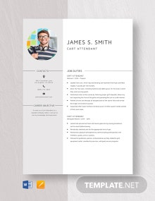 Cart Attendant Resume Template