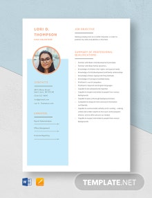 CASA Volunteer Resume Template