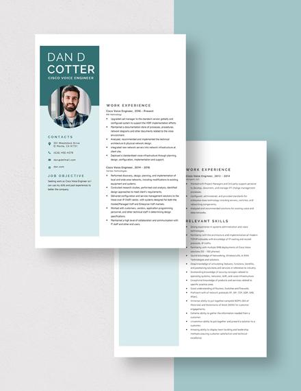 Cisco Voice Engineer Resume Download
