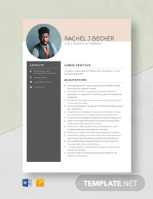 Civil Rights Attorney Resume Template