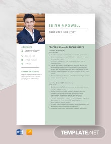Computer Scientist Resume Template