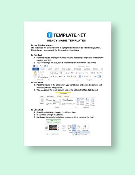 Business Promotion Letter Instructions