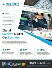 Free Digital Creative Marketing Flyer Template