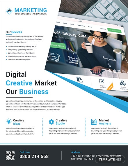 Digital Creative Marketing Flyer Template