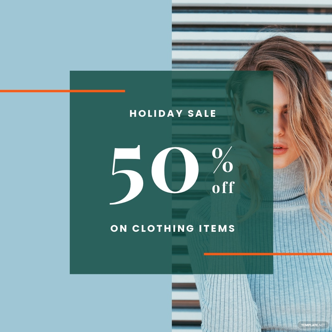 Free Holiday Collection Sale Instagram Post Template.jpe