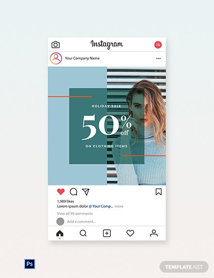 Free Holiday Collection Sale Instagram Post Template