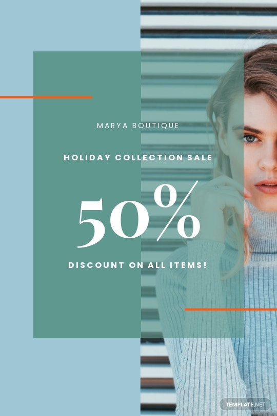 Holiday Collection Sale Tumblr Post Template
