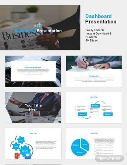 Free Dashboard Presentation Template