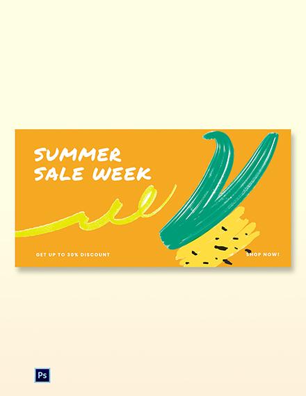 Summer Sale Blog Post Template [Free PSD]