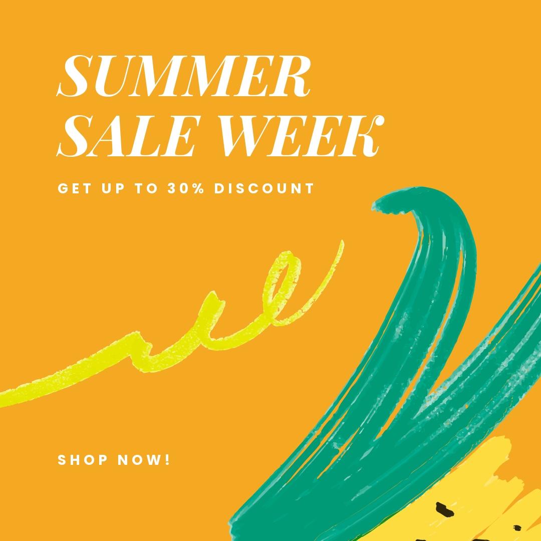 Free Summer Sale Instagram Post Template