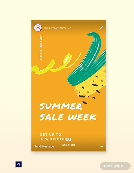 Free Summer Sale Instagram Story Template