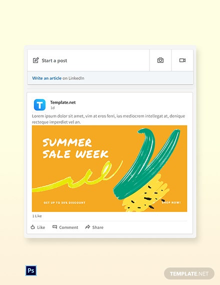 Summer Sale LinkedIn Blog Post Template