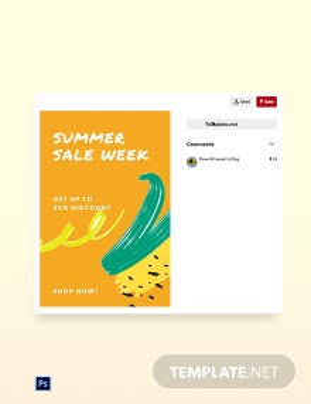 Free Summer Sale Pinterest Pin Template