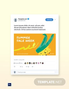 Free Summer Sale Twitter Post Template