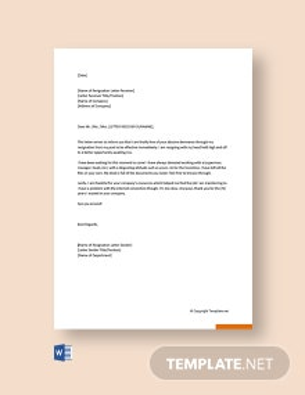 Free Funny Job Resignation Letter