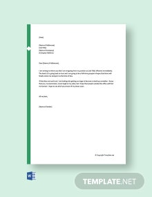 Free Funny Resignation Letter to Coworkers