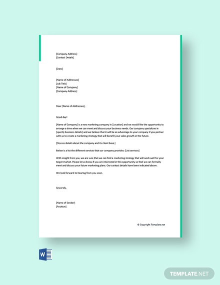 FFree Marketing Letter to Get Clients