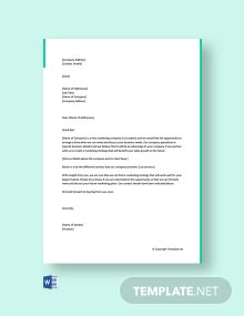 Free Marketing Letter to Get Clients