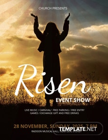 Free Risen Church Flyer Template