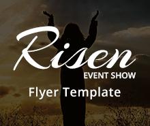 Free Risen Church Flyer Template