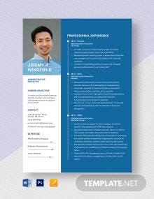 Administrative Executive Resume Template
