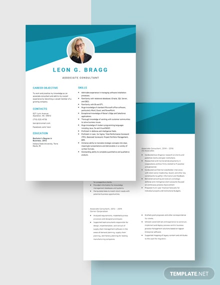 Associate Consultant Resume Download