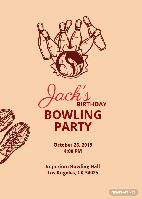 Free Bowling Invitation Party Template.jpe