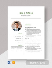 Biz-talk Developer Resume Template