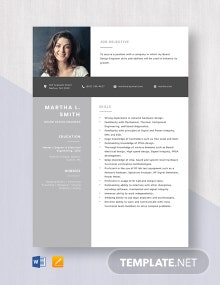 Board Design Engineer Resume Template