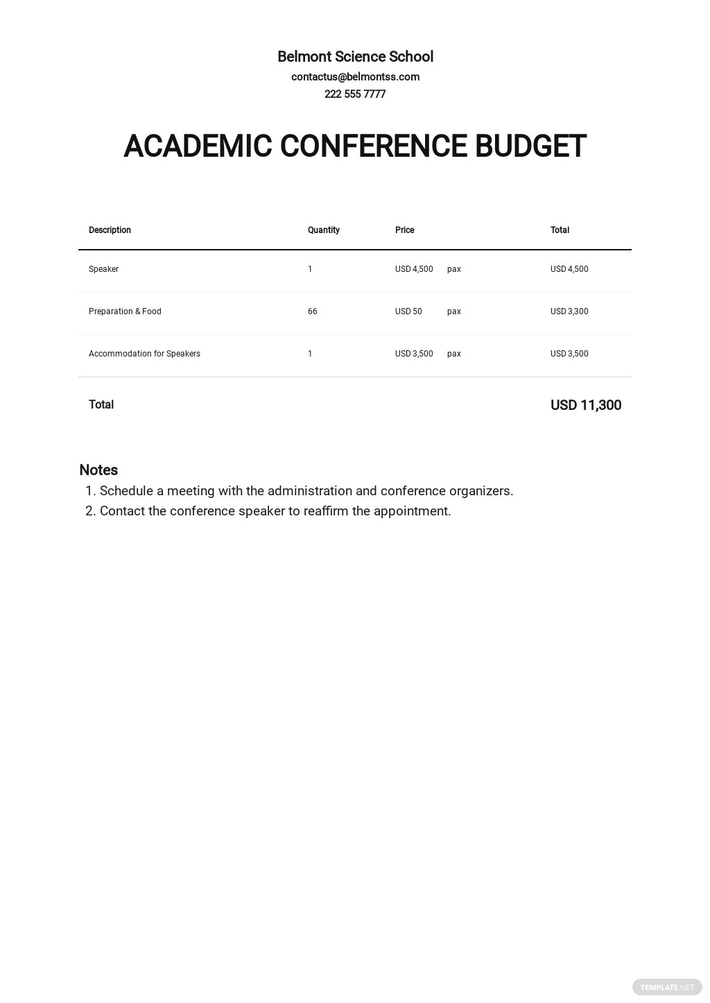 Academic Conference Budget Template.jpe