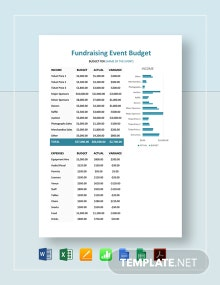 Fundraising Event Budget Template