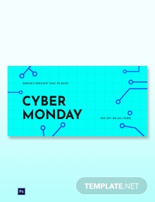 Free Editable Cyber Monday Sale Blog Post Template