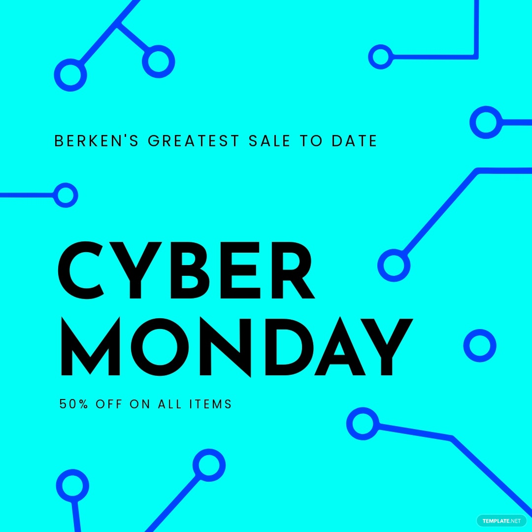 Editable Cyber Monday Sale Instagram Post Template