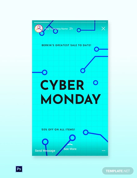 Free Editable Cyber Monday Sale Instagram Story Template