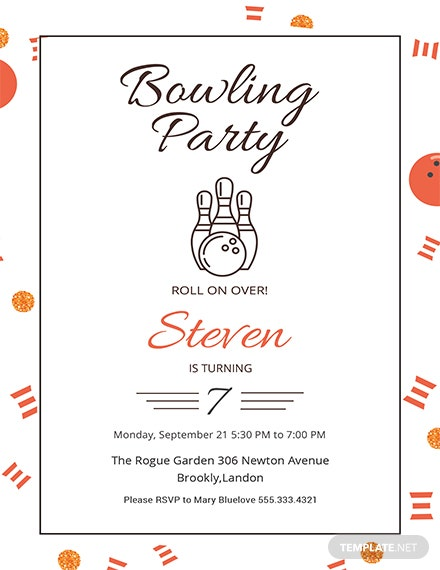 Bowling Invitation Template | Free Bowling Party Invitation Template Download 344 Invitations In