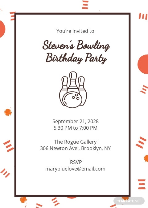 Bowling Party Invitation Template [Free JPG] - Illustrator, Word, Outlook, Apple Pages, PSD, Publisher