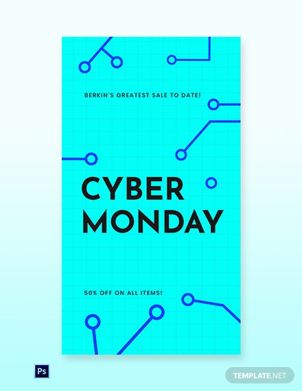 Free Editable Cyber Monday Sale Whatsapp Image Template