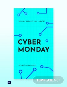 Editable Cyber Monday Sale Whatsapp Image Template