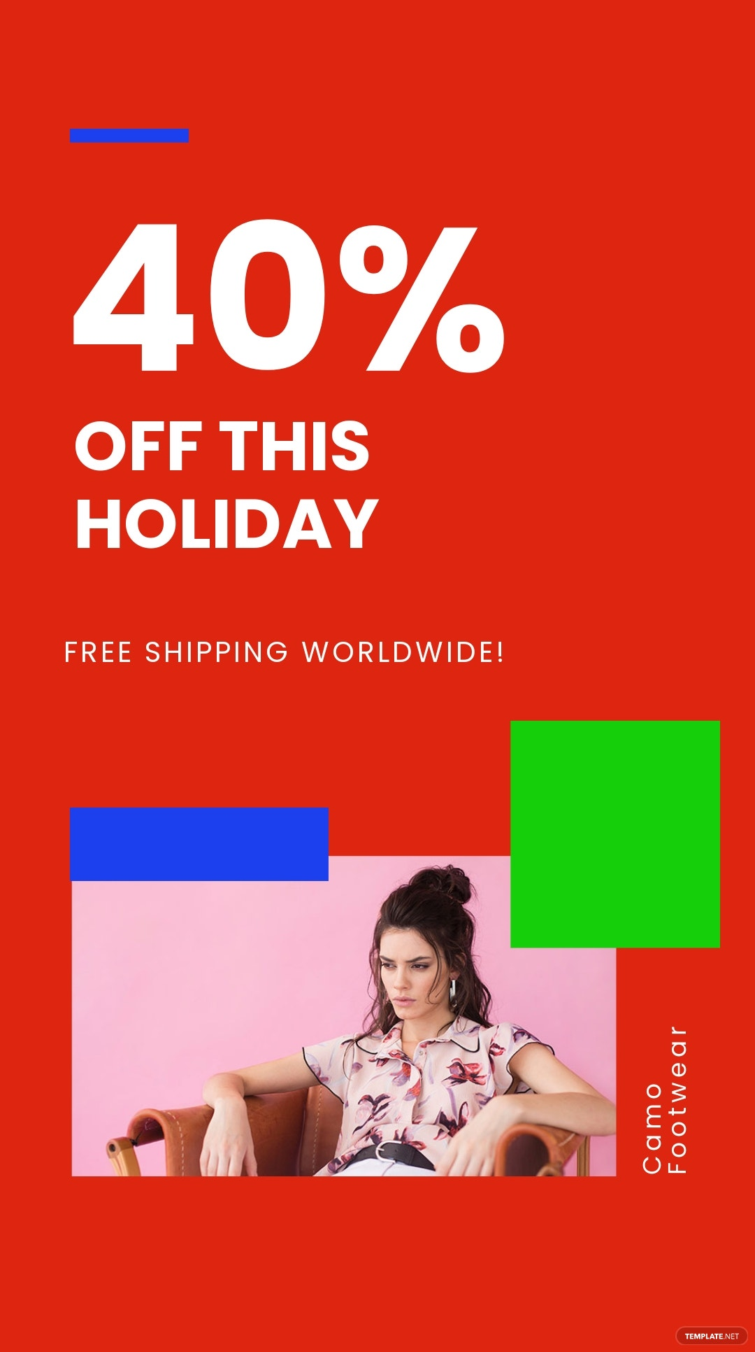 Free Holiday Offer Sale Instagram Story Template