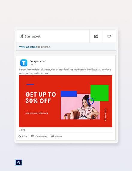 Free Holiday Offer Sale Linkedin Blog Post Template