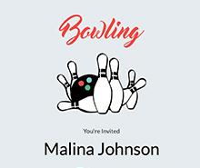 Free Printable Bowling Invitation Template
