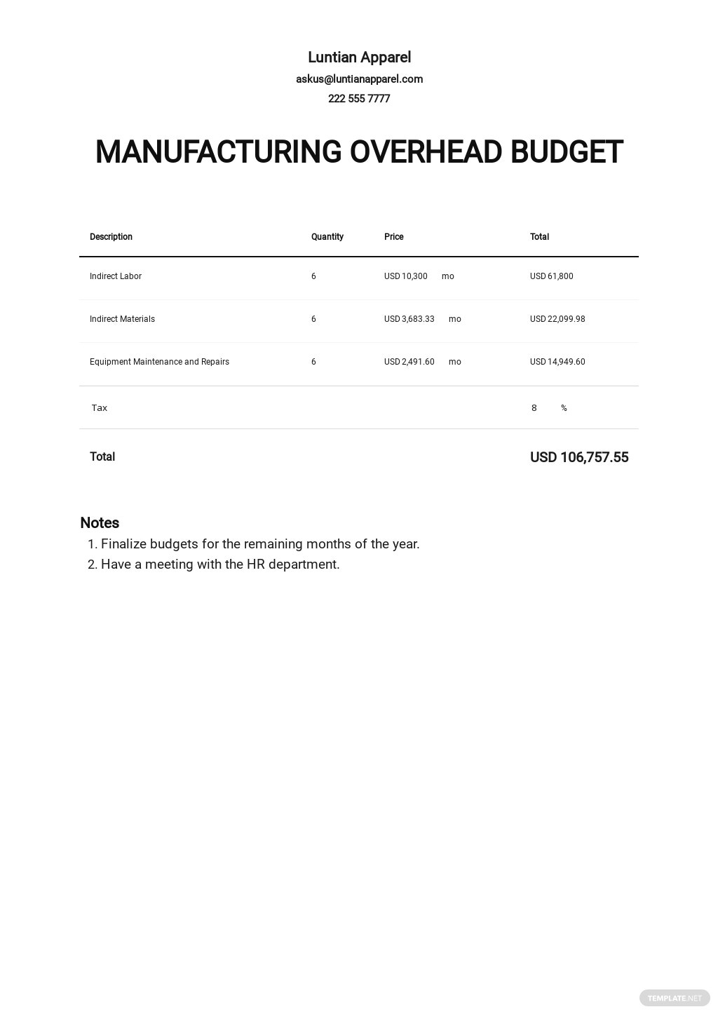 Manufacturing Overhead Budget Template.jpe