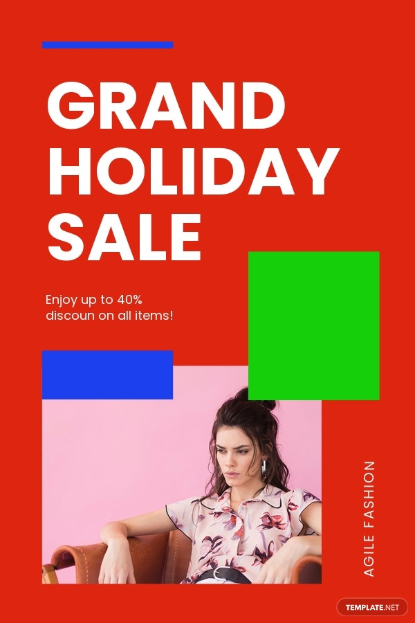 Free Holiday Offer Sale Pinterest Pin Template