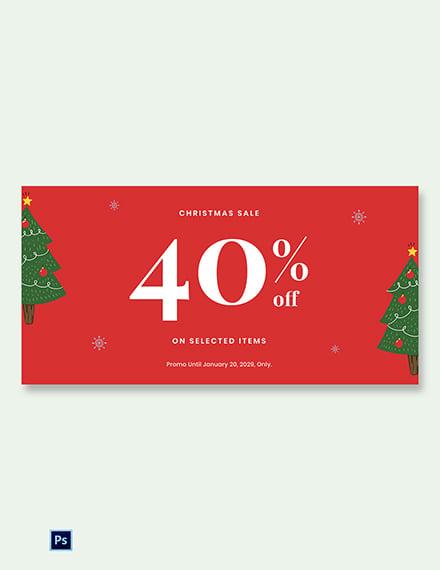 Free Christmas Holiday Sale Blog Image Template