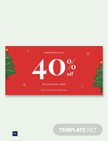 Free Christmas Holiday Sale Blog Image Template