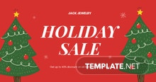 Free Christmas Holiday Sale Facebook Post Template
