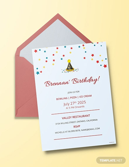 63 Free Birthday Invitation Templates Download Ready Made
